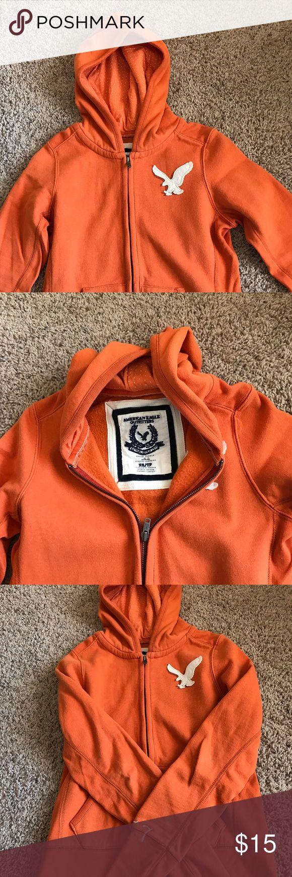 American Eagle Sweatshirt Orange, Xsmall, American eagle sweatshirt American Eagle Outfitters Tops Sweatshirts & Hoodies