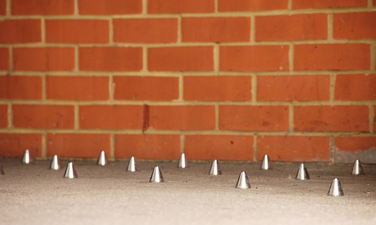 Spikes keep the homeless away, pushing them further out of sight