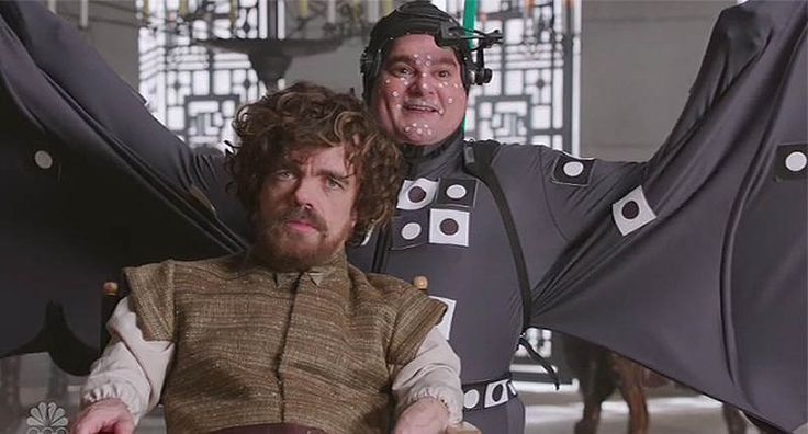 SNL Reveals Hilarious Truth Behind Dragons In 'Game Of Thrones' -           NBC     Peter Dinklage was the guest host on last night's new episode of  Saturday Night Live  , so you just knew a  Game of Thrones  sket...