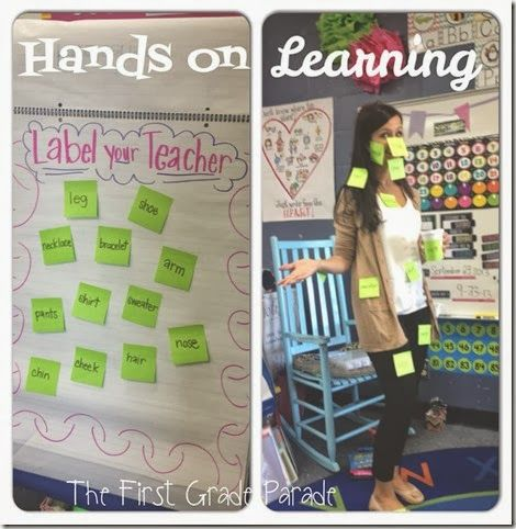 Label your teacher: Hands on Learning via First Grade Parade