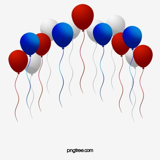 American Red White And Blue Balloons Balloon Red White And Blue Png Transparent Clipart Image And Psd File For Free Download Blue Balloons Blue Party Decorations Clip Art