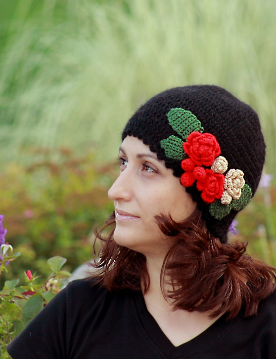 Fall 2011 - Click for details #hat #crochet #flower #fall #fashion #beret