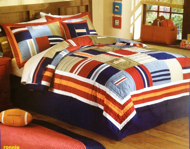 Navy Flag Patchwork Quilt Set By Pem America
