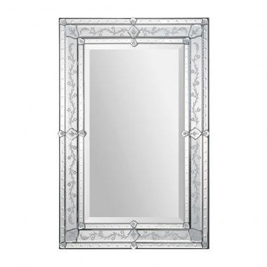 Ce miroir v nitien l gant pr sente un cadre classique aux for Miroir venitien