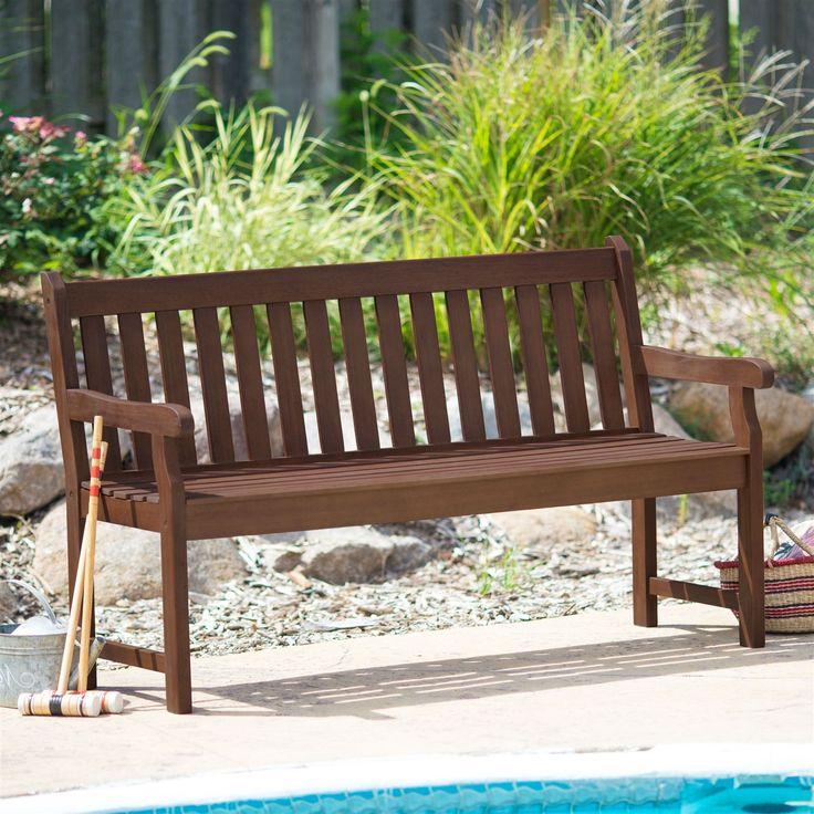 outdoor glider love seat garden bench in black wood finish