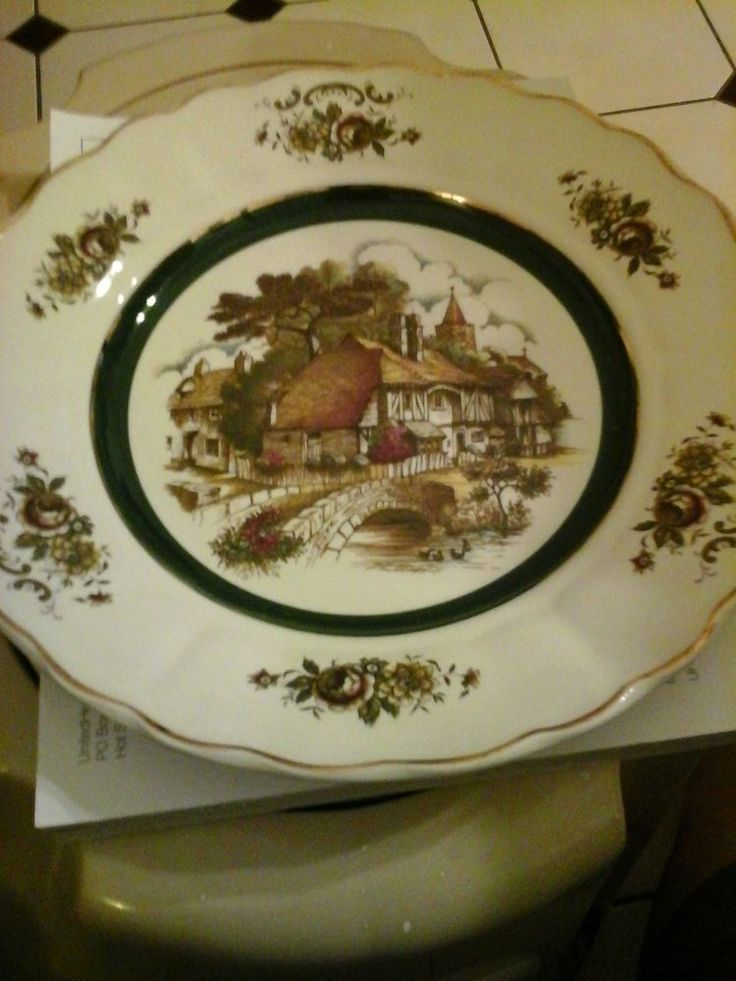 Vintage english rural scenes wall plate grindley of stoke for Princess housse