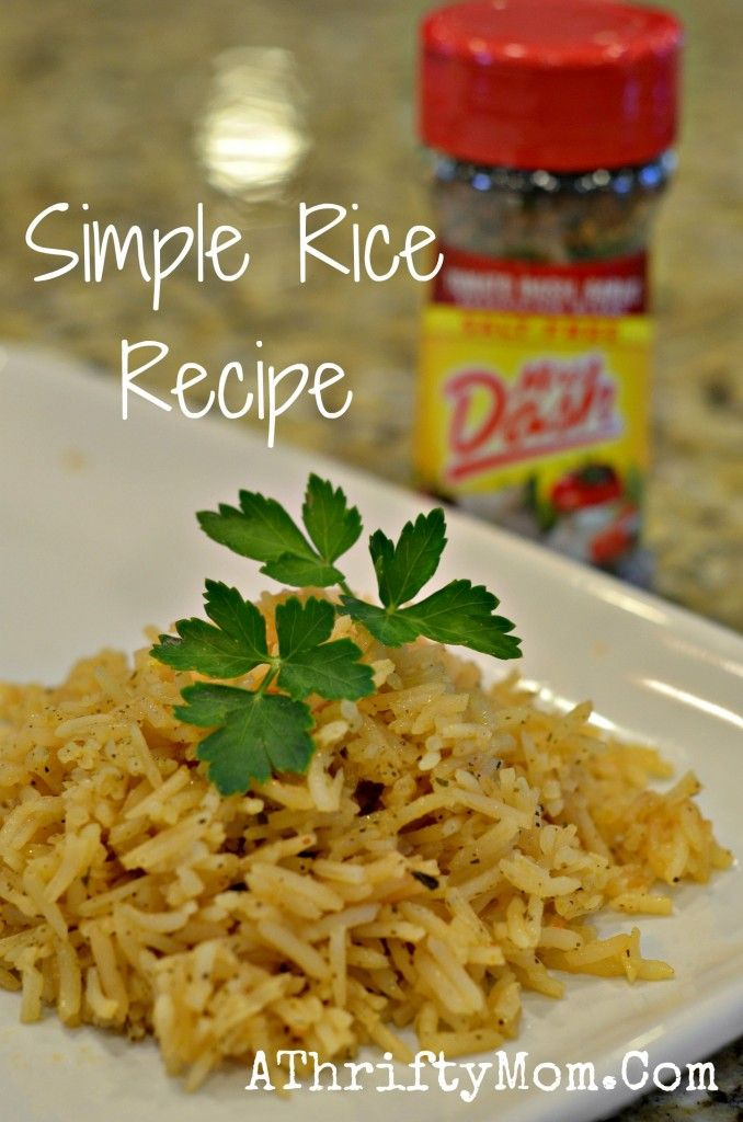 Mrs Dash Rice Recipe, No need to spend money on flavored rice in a box! Bulk rice is dirt cheap, but very bland.  Use Mrs. Dash - or find a recipe you like and mix the spices yourself so it's as easy as those box mixes.