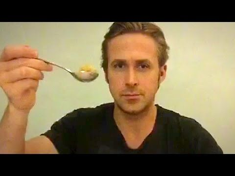 Ryan Gosling Eats His Cereal - A Touching Tribute to Cancer Victim Ruan McHenry - YouTube