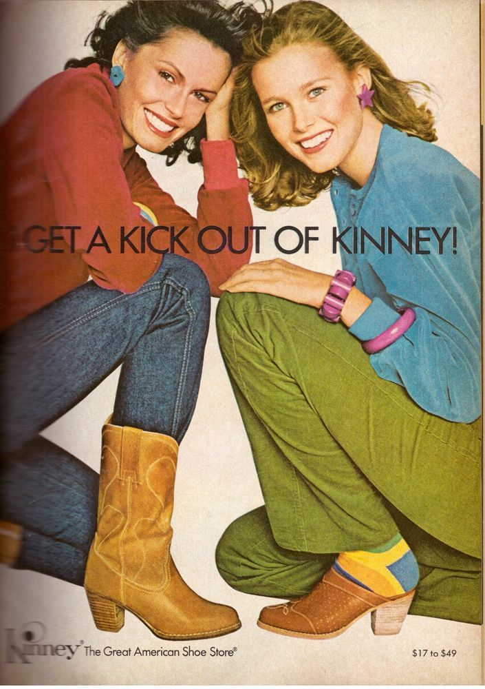 1979 Kinney American Shoes Boots Magazine Print Advertisement Ad Vintage VTG 79s | eBay