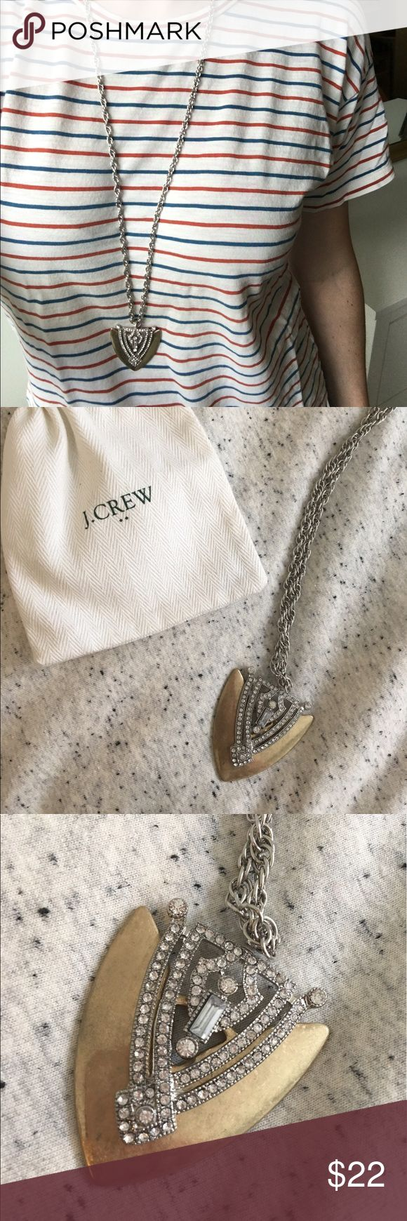 "J Crew Long Gold Necklace Beautiful Gold and Crystal J Crew Necklace. 31"" long chain with extra 3"" adjustable for longer length. Jewelry Necklaces"