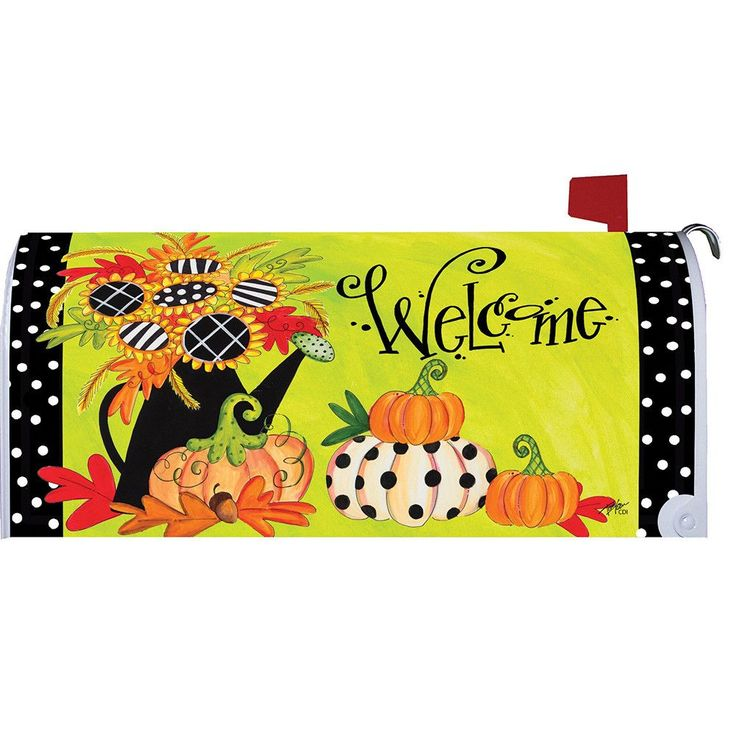 Sunflowers Welcome Large Mailbox Cover