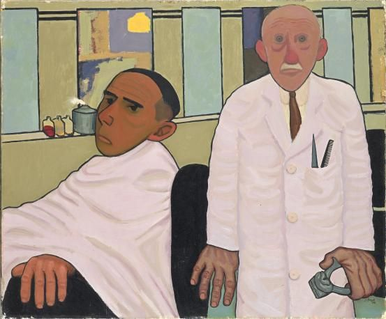 John Brack ~ The Barber's Shop, 1952