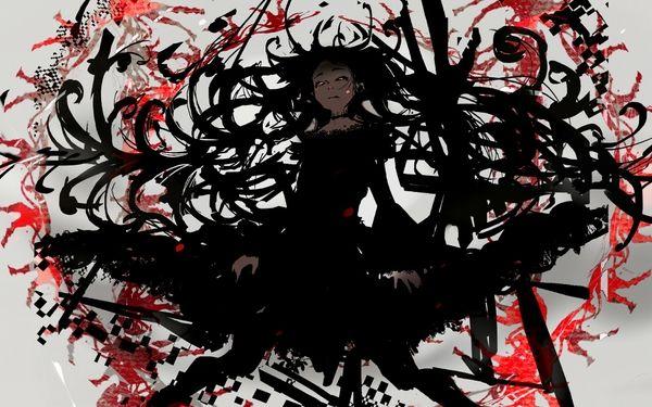 Anime Girl Black Hair Google Search Fantasy Shadow