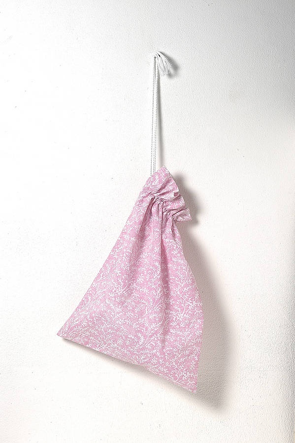 £12.95 pink Cotton Laundry Bag
