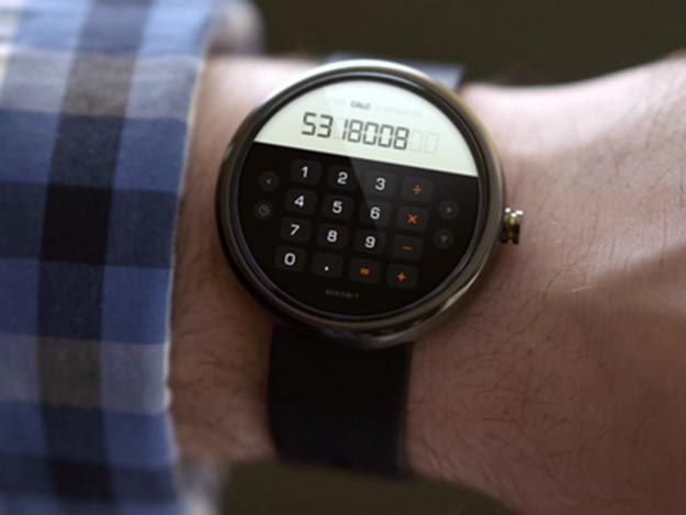 Android Wear Concept Deign UI : Calculator .. Moto 360