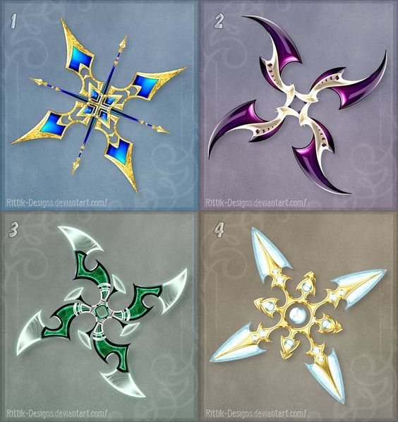 Shurikens (set 2) by Rittik-Designs on DeviantArt
