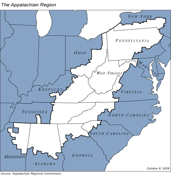 Appalachia is a region whose geographical boundaries exist not because of any legal boundaries, but because of the shared history, culture, and environment of mountain people in eastern North America.  We believe that any progress toward justice in this region requires a clear understanding of place. Below is a brief overview of the very long, complex, difficult and beautiful history of Appalachia.