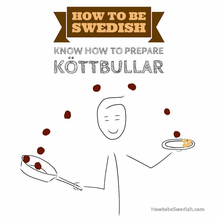 Know how to cook Swedish meatballs - How to be Swedish