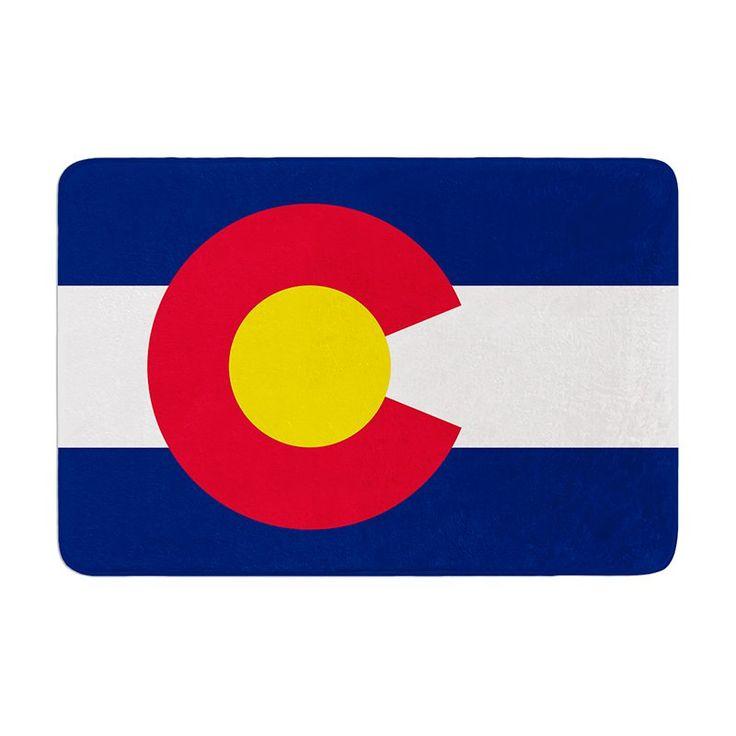 KESS InHouse Bruce Stanfield Flag of Colorado II Memory Foam Bath Mat - BS1021ABM01