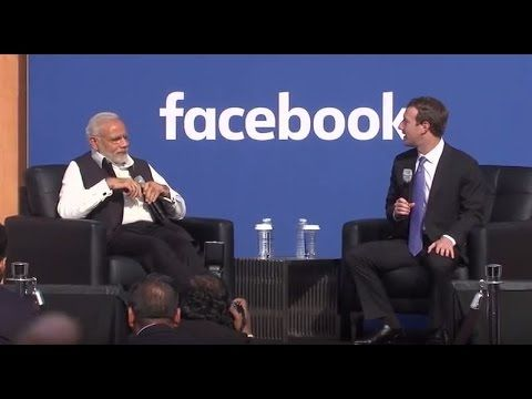 Townhall Q&A (Hindi) with PM Modi and Mark Zuckerberg at Facebook HQ in San Jose - YouTube