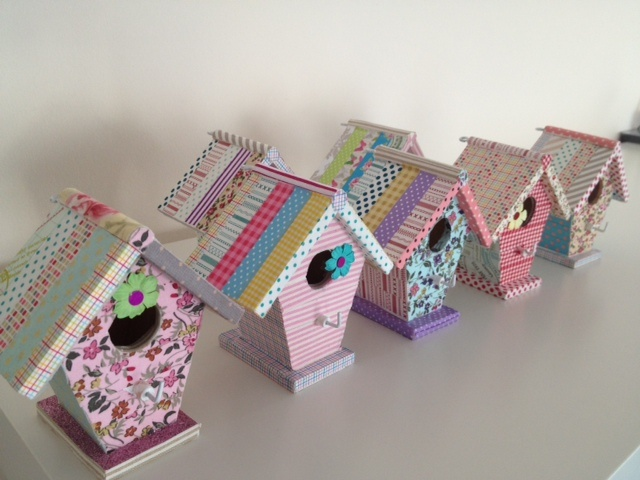 washi tape  birdhouse, who can resist