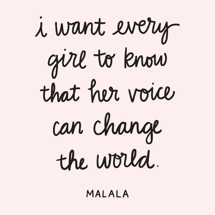 Malala Female Empowerment Quotes Use Your Voice Don T Give Up Empowerment Quotes Feminist Quotes Women Empowerment Quotes