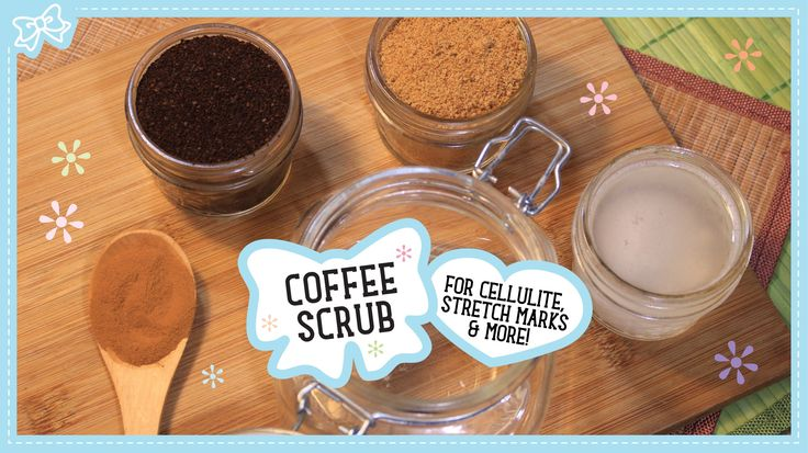 Homemade scrubs for cellulite and stretch marks