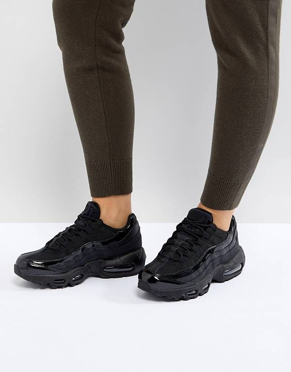 f486f71c443 Nike Air Max 95 Trainers In All Black