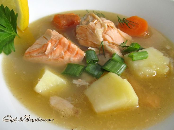 Ukha Russian Fish soup http://chefdepaprika.com/2012/04/ukha-russian-salmon-soup-recipe/