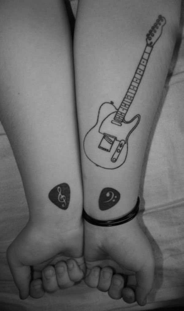 The Best Minimalist Tattoo Ideas For Couples The Best Minimalist Tattoo Ideas The Best Min In 2020 Minimalist Tattoo Guitar Tattoo Design Music Tattoo Designs