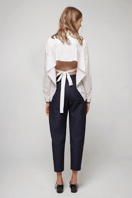 Блузка с открытой спиной (29 фото): с чем носить блузы с открытой спиной
