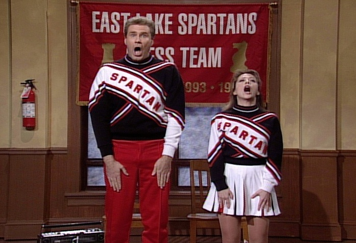 Saturday Night Live: Will Ferrell and Cheri Oteri as The Spartans Cheerleaders #SNL