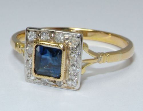 A lovely 18ct gold diamond