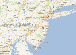 Подробная карта Нью-Джерси