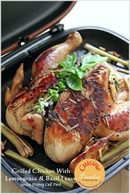 Grilled Chicken With Lemongrass and Basil Leaves using Happycall