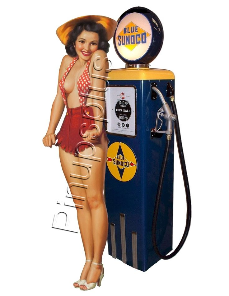 Images Of Old Fashion Gas Pumps And Service Attendant