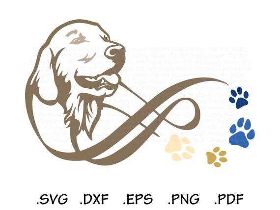 Golden Retriever Svg Infinity Puppy Clipart Veterinary Office