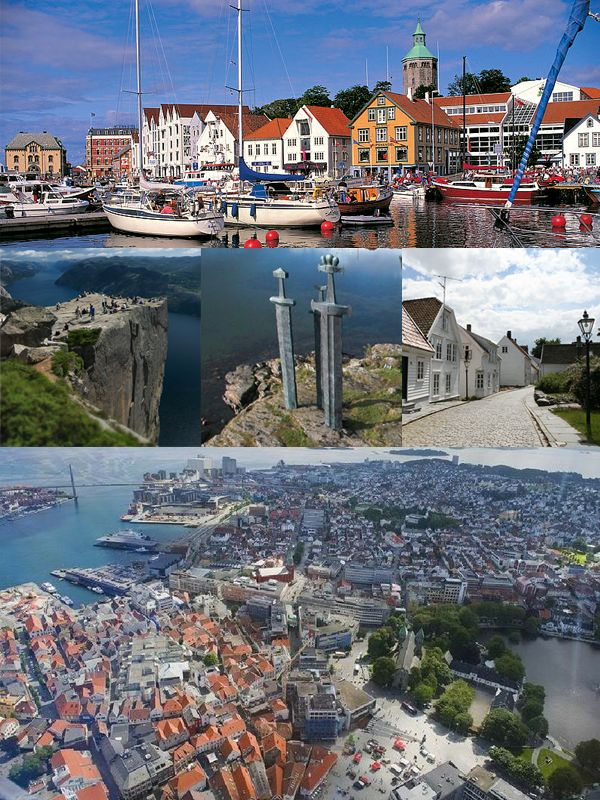The city of Stavanger, Norway.