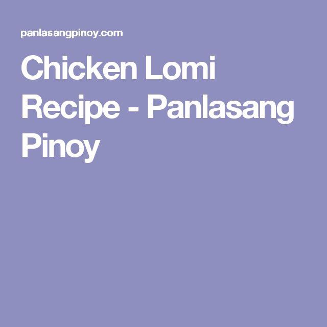how to cook lomi panlasang pinoy