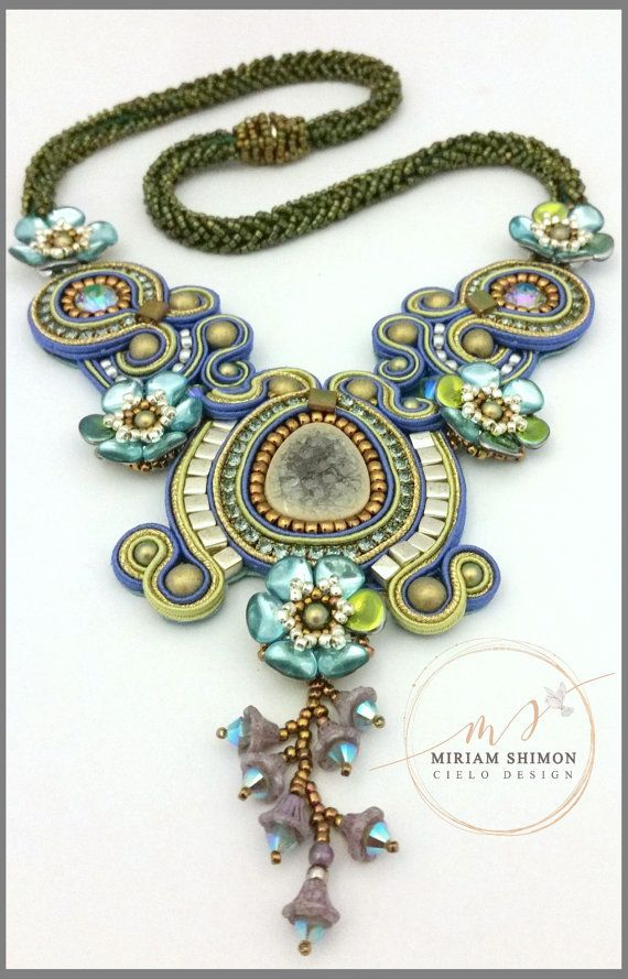 Blue+Ivy+Soutache+necklace+by+MiriamShimon+on+Etsy