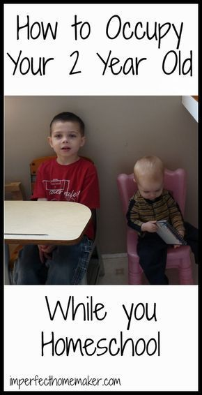 How to Occupy a 2 Year Old During Homeschool