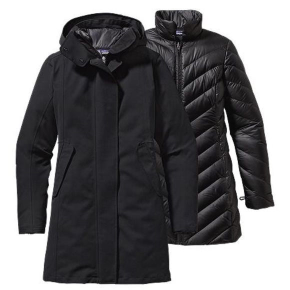NWT Patagonia Tres 3-in-1 Parka Black Patagonia 3-in-1 parka with detachable dark gray down coat. Unbelievable comfortable and super fashionable!!! This is a small. BRAND NEW!!! Patagonia Jackets & Coats