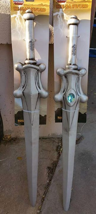 He-Man and She-Ra costume swords