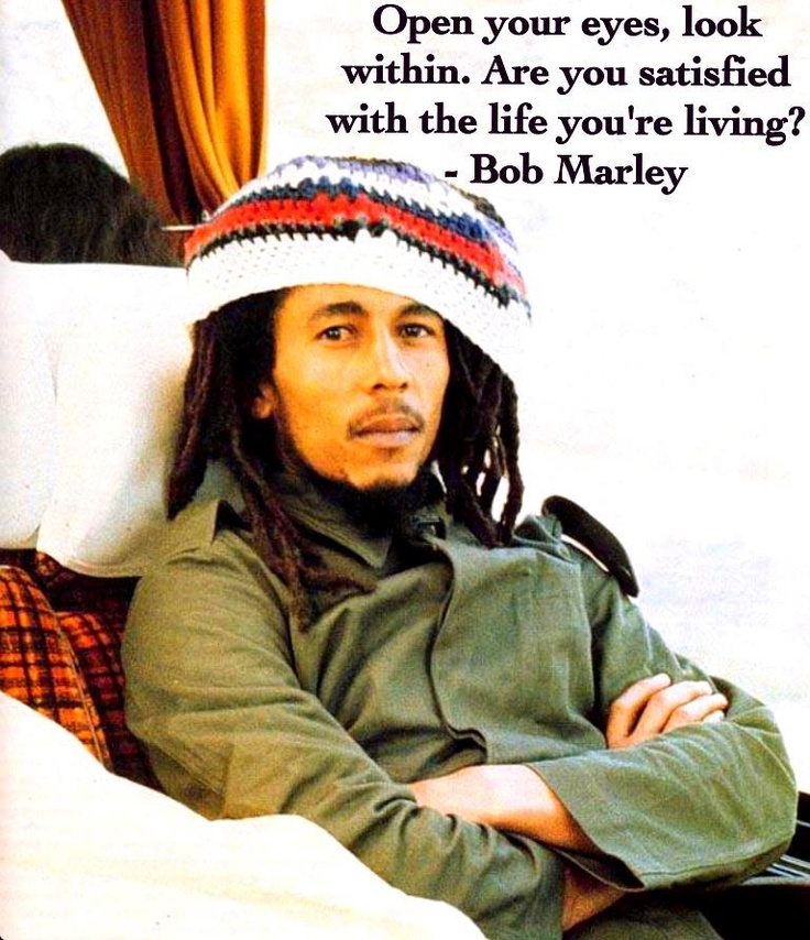 Bob Marley - the man, the music, the depth of thought.