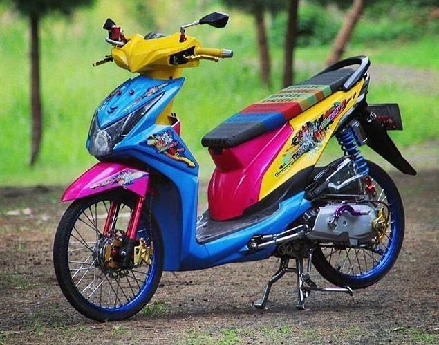 Modifikasi Motor Honda Beat Motor Cat Body Honda