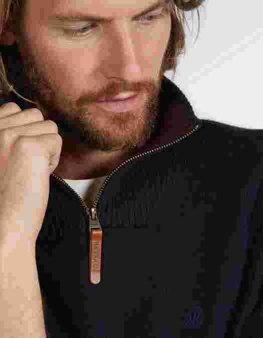 Main image showing Cotton Cashmere Half Neck Jumper