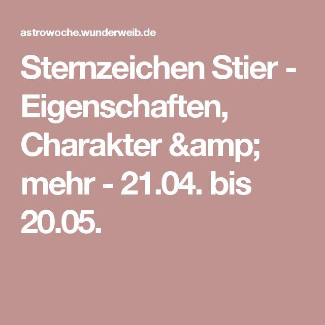 Sternzeichen Stier - Eigenschaften, Charakter & mehr - 21.04. bis 20.05.