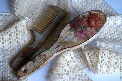 """Гребни, расчески ручной работы. Ярмарка Мастеров - ручная работа Расчески """"Королевские розы"""".. Handmade."""