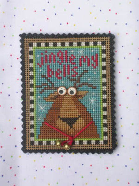 Jingle My Bells is the title of this cross stitch from Val's Stuff that comes with all you need to stitch this design with exception of the floss.