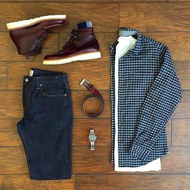 Oxford Shirt: @alexmillny T-Shirt: @homage Denim: @katobrand Shoes: @thursdayboots Watch: @rolex Socks: @pairofthieves